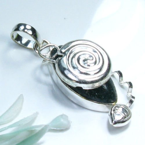 Fine Aventurine silver 925 pendant + sterling chain ! Gift Jewelry and Love
