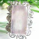 Fine classic design rose Quartz silver ring size 7 1/4 ! Gift Jewelry & Love