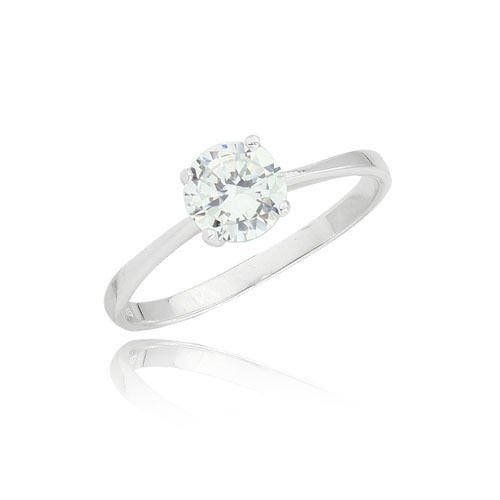 Fashion sterling silver 925 ring .5 ct cubic zircon size 7 ! Gift Jewelry & Love