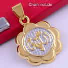 Fashion 14k gold plated Allah Islam Design Pendant & Necklace ! Jewelry & Gift