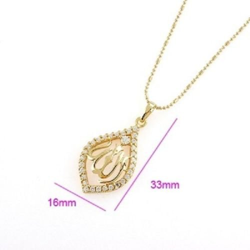 14k gold plated Allah Islamic Pendant and necklace ! Arab & Islam Jewelry gift
