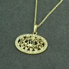 14k Gold plated & zircons Allah Islamic Pendant necklace ! Muslim Jewelry & gift