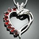 Swarovski Heart style crystal Zircon Pendant Necklace ! Gift Jewelry & Love
