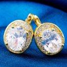 Fashion white 14k gold filled women square zircon stud earrings ! Gift & Jewelry