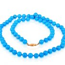 Fine fashion Jewelry Genuine Turquoise beaded necklace ! Gift Jewelry & Love