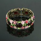 Fashion special 24k gold plated flowers lady Bangle ! Jewelry Gift & Bracelet