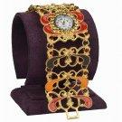 Fashion Crystal 18K Gold Plated Watch Bangle Bracelet ! Jewelry Gift & Love
