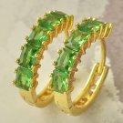 Fashion 9k gold filled blue & white zircons dangle earrings ! Gift & Jewelry