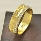 Fashion desaign real gold filled cubic zircon man ring size 6.5 ! Gift & Jewelry