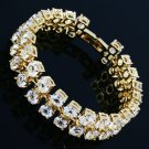 Fashion design 18K Gold Plated white Rhinestone Bracelet ! Gift Jewelry & Love
