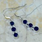 Fine fashion silver dangle earrings set iolite gemstone ! Gift Jewelry & Love