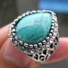 Fashion Thailand silver ring green Turquoise stone size 8 ! Gift Jewelry & Love