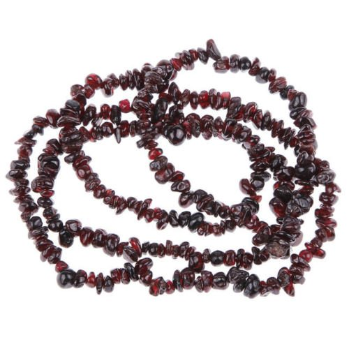 Fashion chip loose beads ruby gemstone beaded necklace ! Gift Jewelry & Love