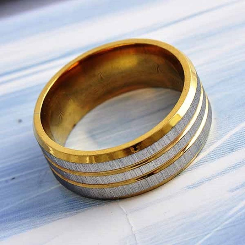 Fashion design 9k gold filled set sandy silver ring size 8 ! Gift & Jewelry