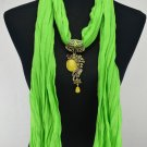 Woman Fashion Accessory Peacock Pendant necklace scarf ! Gift Jewelry & Love