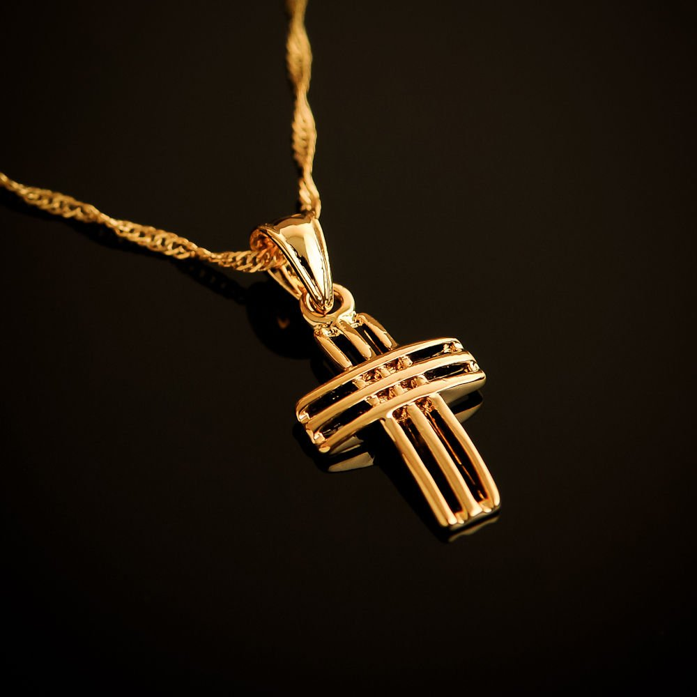Fashion 18k gold plated latin cross pendant & necklace ! Gifr Jewelry & Love