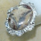 Elegant Fashion retro design Jasper silver ring size 9 ! Gift Jewelry & Love