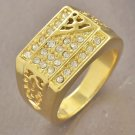 Fashion desaign real gold filled cubic zircon man size 11 ! Gift Jewelry & Love