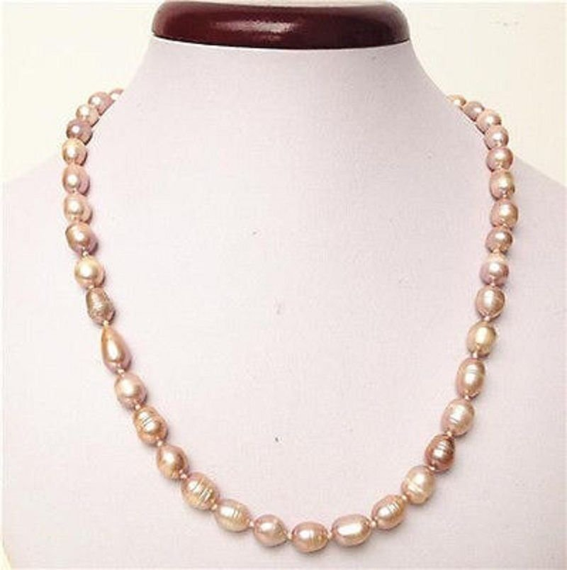 "18"" Fashion fresh water pink pearls ball beaded necklace ! Gift Jewelry & Love"