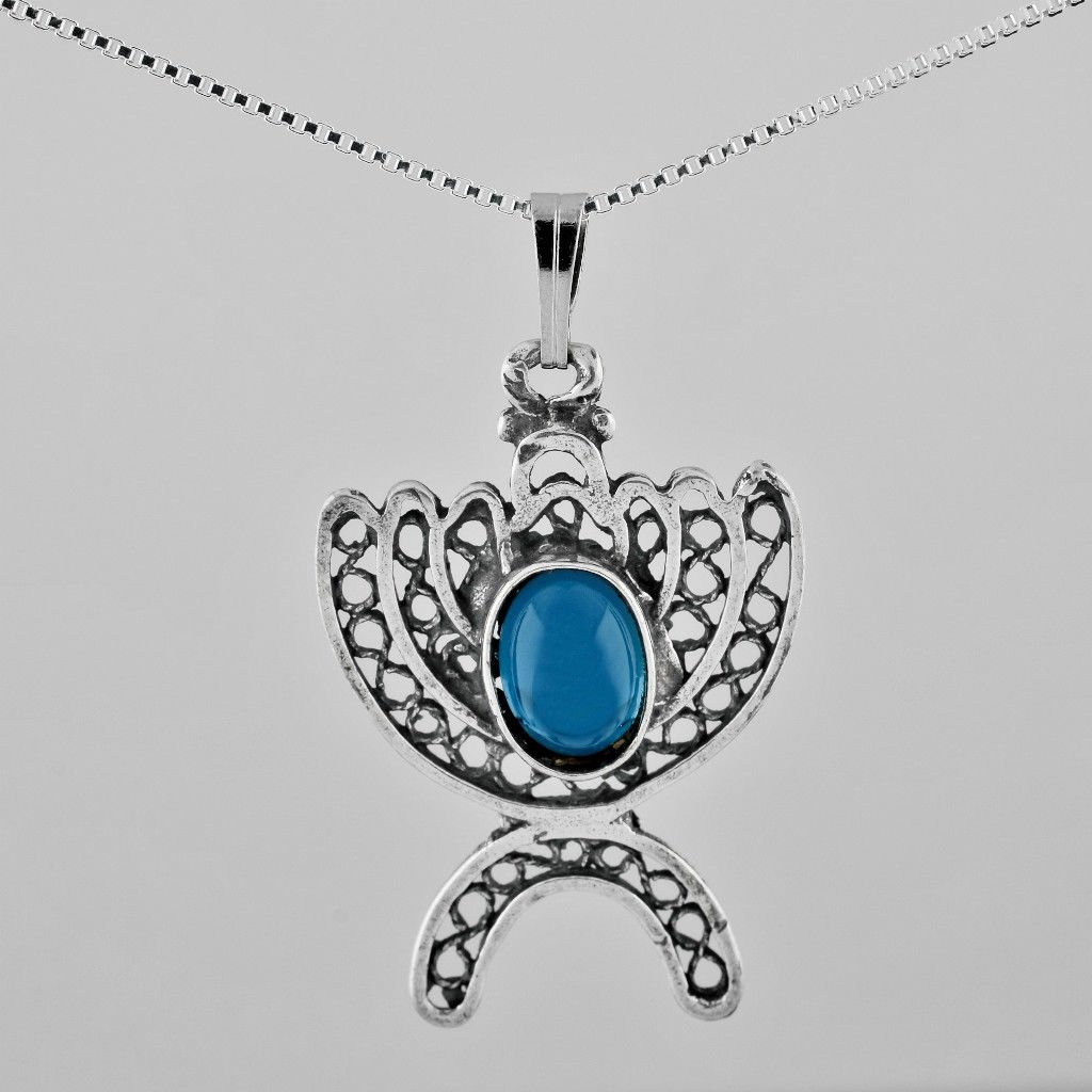 Silver 925 pendant of a candelabrum Menora 925 necklace ! Jewelry Gift & love