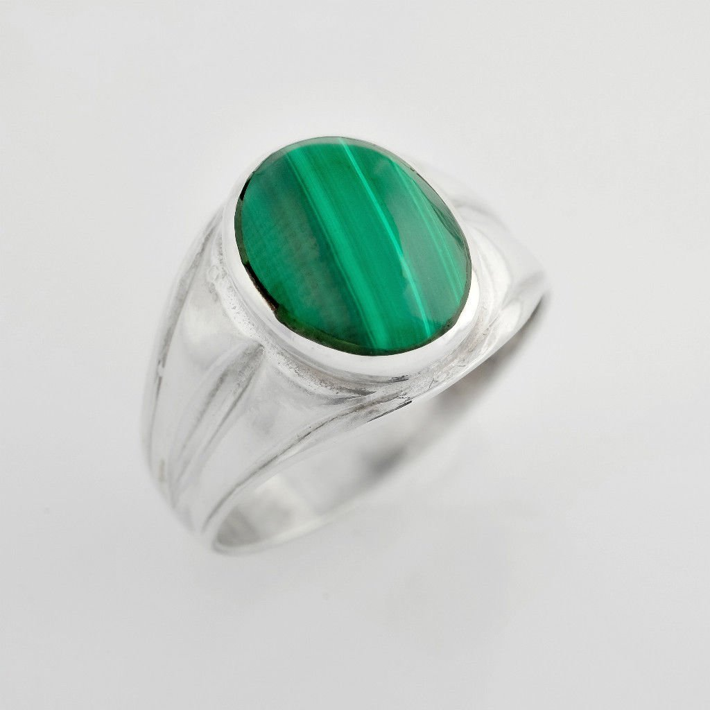 fine fashion silver ring set Malachite stone, sterling ! Gift Jewelry & Love