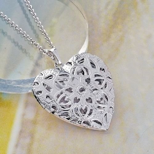 Pretty heart 18K Gold Plated Pendant & Necklace (chain) ! Gift Jewelry & Love