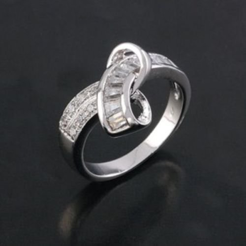 18K GP Special Pretty style Ring with zircons size 7 ! Gift Jewelry & Love