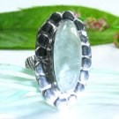 Beautiful fashion Prehnite silver 925 ring size 8 3/4 ! Gift Jewelry and Love