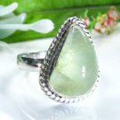 Beautiful fashion Prehnite silver 925 ring size 7 1/2 ! Gift Jewelry and Love