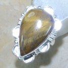 Fashion silver & natural Tiger eye retro ring size 6 3/4 ! Gift Jewelry & Love
