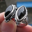 Fashion silver natural black onyx gemstone ring size 9 ! Gift Jewelry & Love