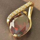 Fashion 9k gold filled pendant set swarovski crystal + necklace ! Gift & Jewelry