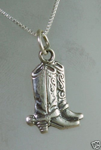 "Silver 925 pendant "" luck boots "" & sterling necklace ! Gift Jewelry & Love"