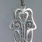 Silver 925 lucky talisman , Hamsa with silver necklace