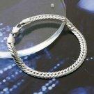 Beautiful fashion 7.68 inch 0.24 width 18K GP Bracelet ! Man & woman gifts