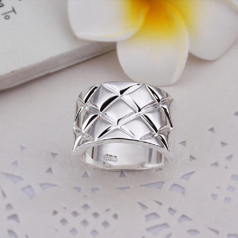 Fashion solid sterling silver 925 ring size 8 ! Gift Jewelry & Love
