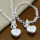 Fashion solid sterling silver 925 bracelet , necklace & pendant ! Gift & Love