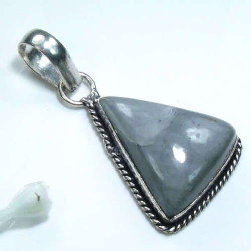 Pretty cat eye silver 925 pendant + sterling necklace ! Gift Jewelry & Love