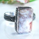 Pretty Jasper silver stamp 925 ring size 9 1/4 ! Gift Jewelry and Love