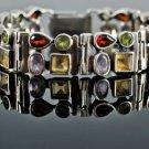 Unique vintage jewelry silver 925 & gemstones bracelet ! Gift Jewelry & Love