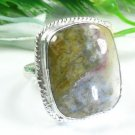 Natural elegant unique ocean Jasper silver ring size 8 ! Gift Jewelry and Love