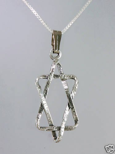 Silver 925 star of David pendant & sterling necklace ! Sterling Jewelry & gift