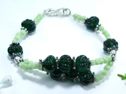 Fashion pretty blomming hill quartz silver 925 bracelet ! Woman & Man gifts