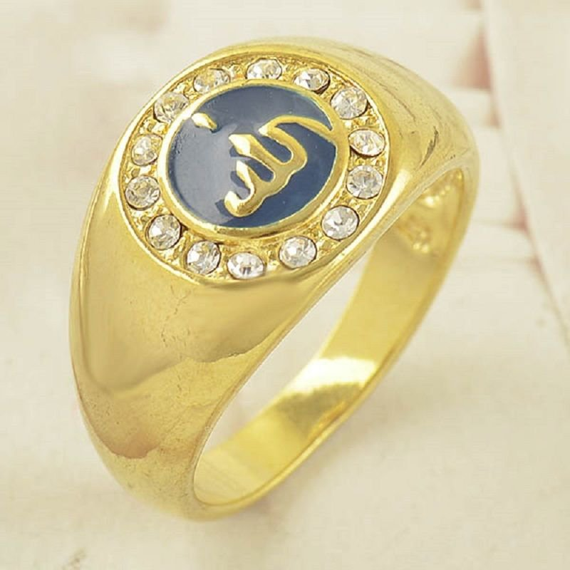 Fashion real gold filled allah islam man or Woman ring size 8 ! Gift & Jewelry