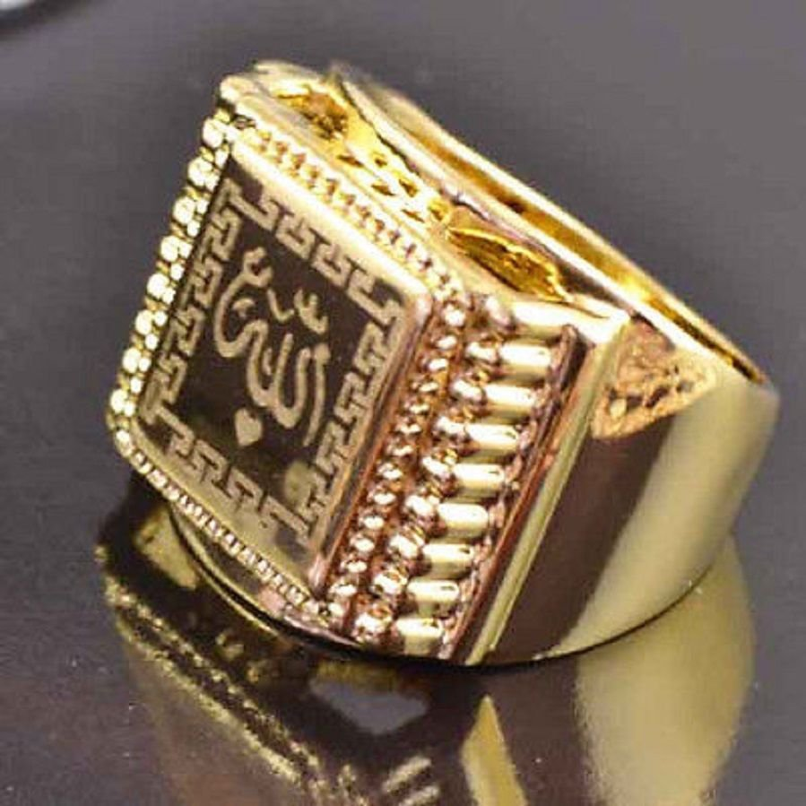Fashion desaign 9k gold filled allah islam man ring size 8 ! Gift Jewelry & Love