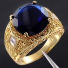 Fashion desaign 18kt gold filled 15ct blue sapphire ring sz12 ! Gift & Jewelry