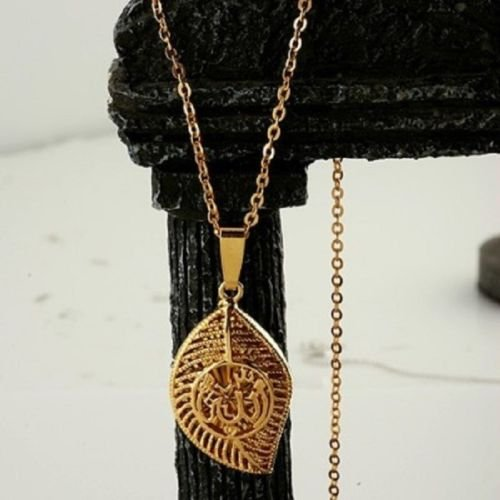 Pretty 18k gold plated Allah Islamic Pendant Necklace