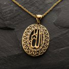 Fashion 18k gold plated Allah muslim Pendant & Necklace ! Islam & Gift Jewelry