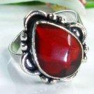 Style elegant Garnet gemstone silver ring size 6 3/4 ! Gift Jewelry & Love