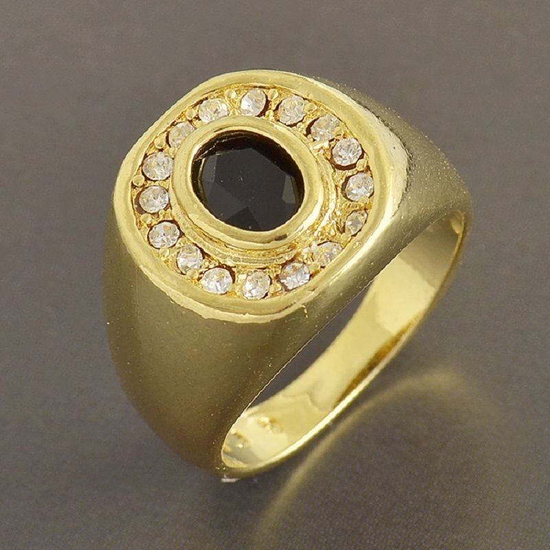 Fashion desaign real gold filled cubic zircon man ring size 10 ! Gift & Jewelry
